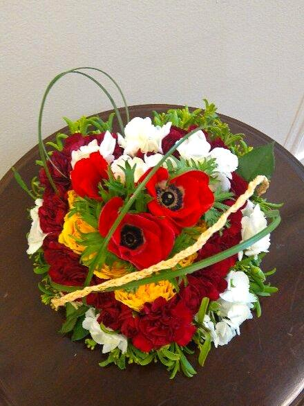 Radiant design and heart shaped flower arrangement - California ...