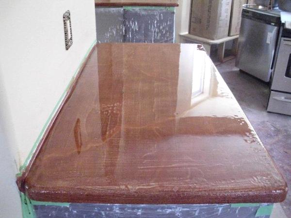 Counter top, stained concrete, food safe, high gloss epoxy - As You ...