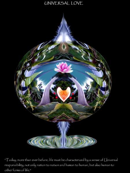 Universal Love Art : The universal love dalai lama grafixgirlive art