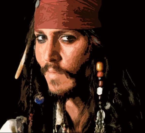 Johnny Depp Captain Jack Pirates Of The Caribbean Dave Copping