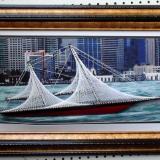 Albert Cole Jr  Z-Clay String Art Schooner Sailboats