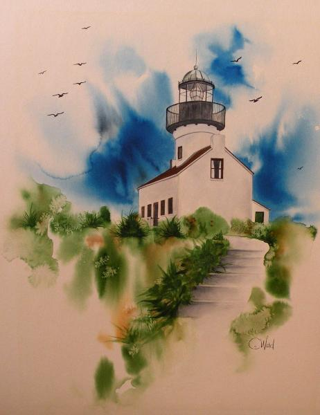 Old Point Loma Lighthouse (watercolor)