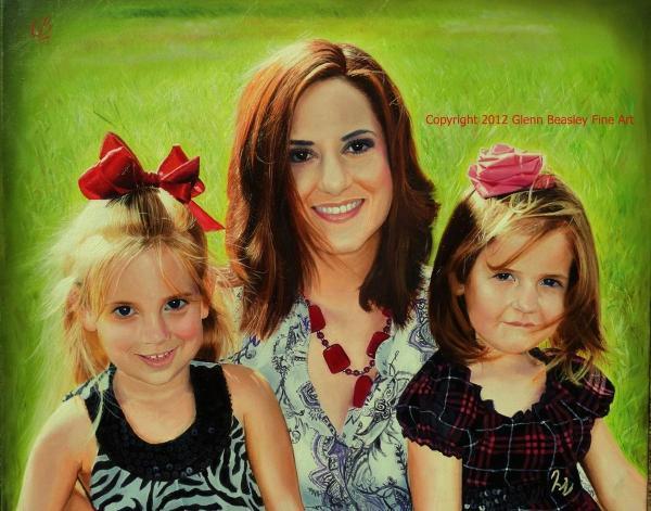 Abby and the girls glenn beasley fine art portraiture for Abby glenn