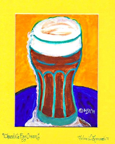 Chocolate Egg Cream - Helene's Cupcake and Dessert Art / W. and H ...