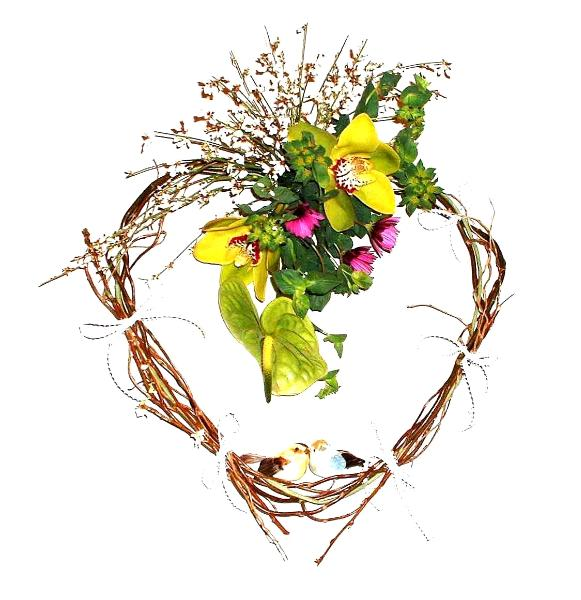 Interior floral decor by wall mounted arrangements - California ...