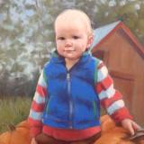 "Pumpkin Patch Baby 18x24"" pastel"