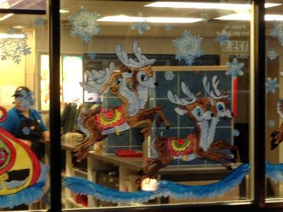 Santa sled and reindeer