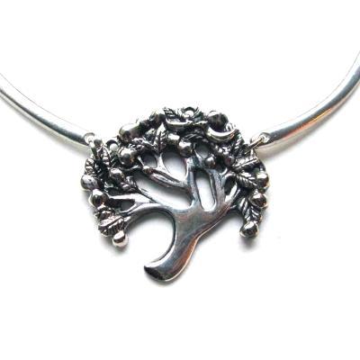 Tree of Life Necklace pewter original handcrafted art Tree jewelry: Tree choker