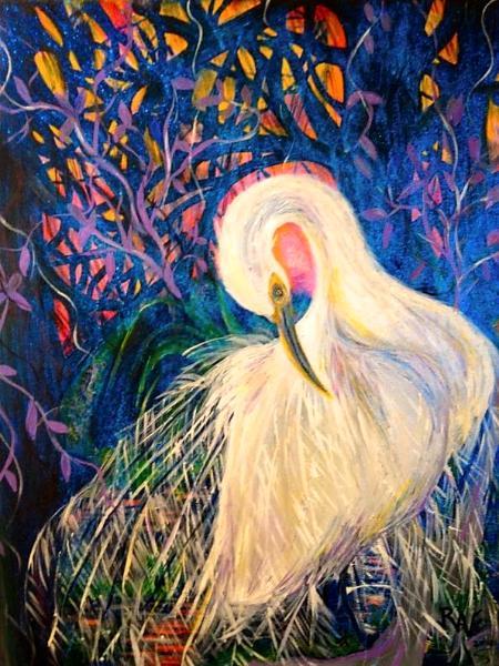 Preening Louisiana Egret