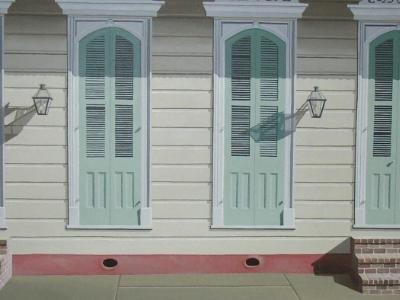 """French Quarter Doors   20"""" x 24""""   sold"""