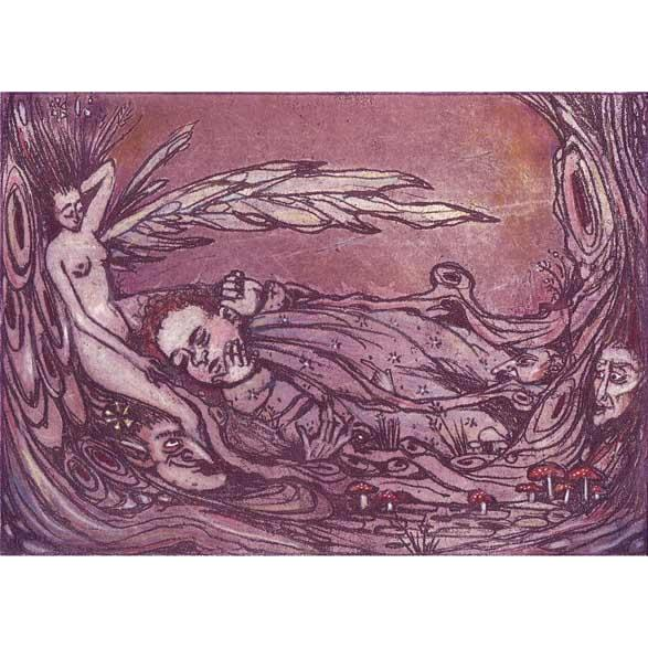 The Stolen Child Limited Edition etching fairy child etching WB Yeats