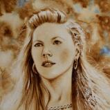 The Viking beauty (coffee painting), 28cm x 38cm, 2020