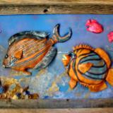 3D framed sculpted fish