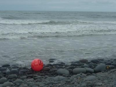 Red ball in the waves, Westward Ho!