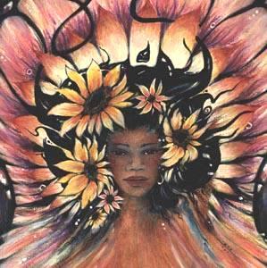 Summer Spirit Goddess of Summer original painting
