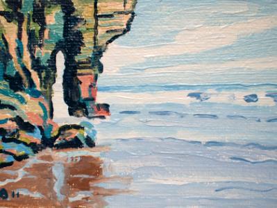 At Bossiney cliffs, North Cornwall