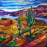 Arizona Winter, Apache Lake, AZ 36x72 $5300.00