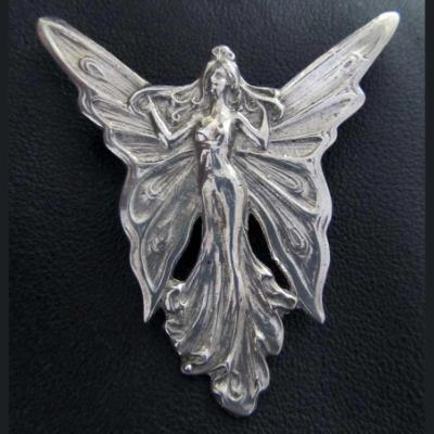Angel Art Nouveau brooch / pin from a vintage design