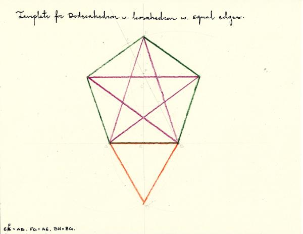 Template for Dodecahedron & Icosahedron with same length edge - p ...