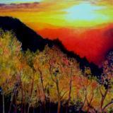 Blazing sunset Sold