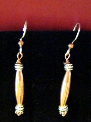 #1 copper and sterling earrings