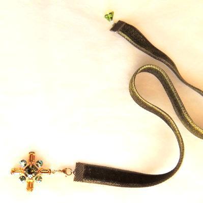 firefly crystal charm bookmark velvet