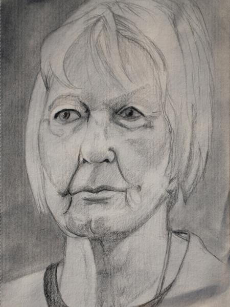 Barbara, Pencil Portrait (Frontal)