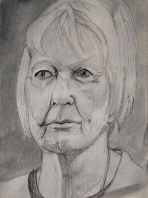 Barbara, Pencil Portrait (Frontal)