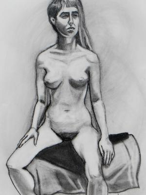 Emily, Seated Nude