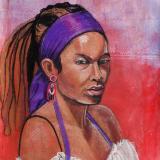 Inky, Pastel Portrait
