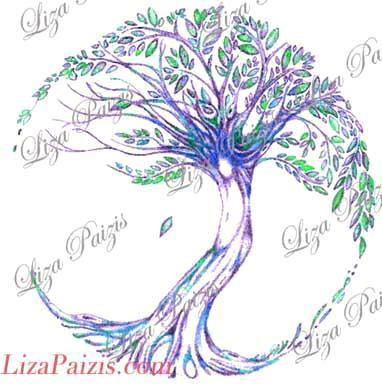 Custom made tree of life tattoo design