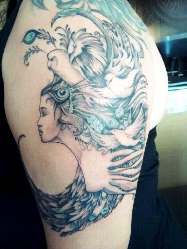 Athena goddess tatoo design