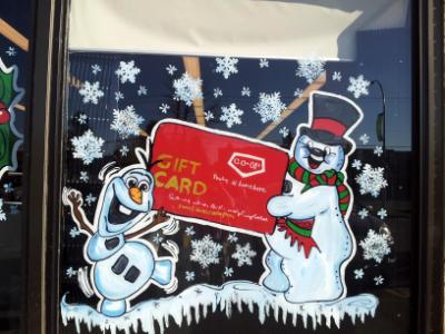 Frosty gift card