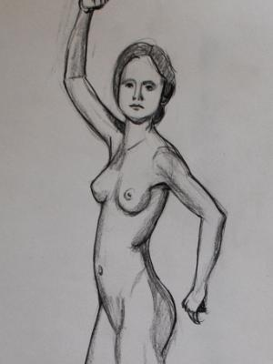 Standing Nude Female, Arm Up