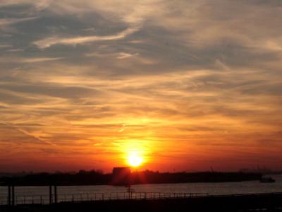 Winter Sunset in Brooklyn