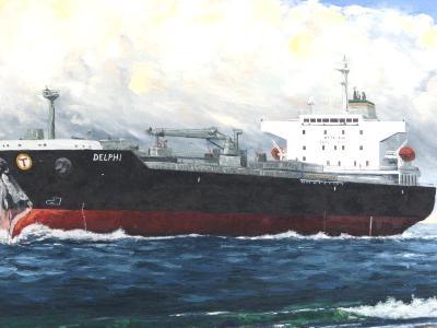 "Ecuadorian oil carrier ""Delphi"", 120cm x 60cm, 2013"