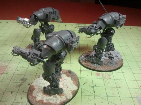 WH40K Grey Knight 3x Dreadknights