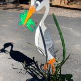 Painted Heron and Cattails