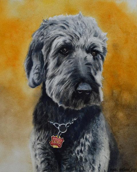 Custom portrait of a dog, 35cm x 50cm, 2019