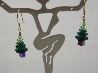 E-42 Swarovski Crystal Tree Earrings