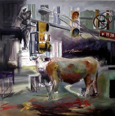 Urban Sprawl 48x48 Oil on Canvas