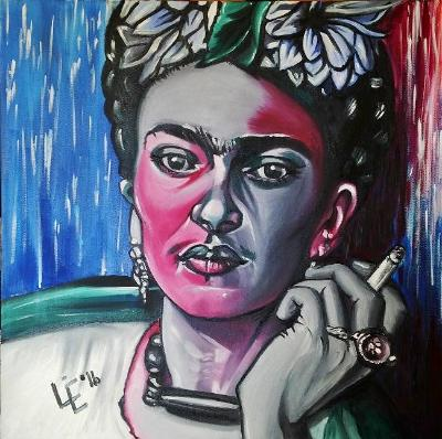 Painting 5 of 10 Fun Frida Commissions