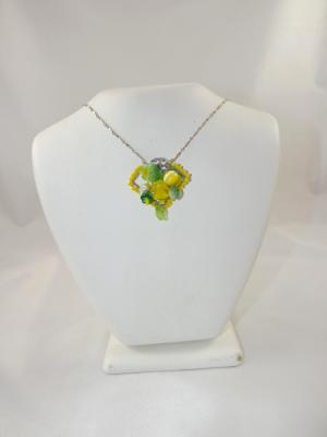 N-84 Green & Yellow Mosaic Necklace