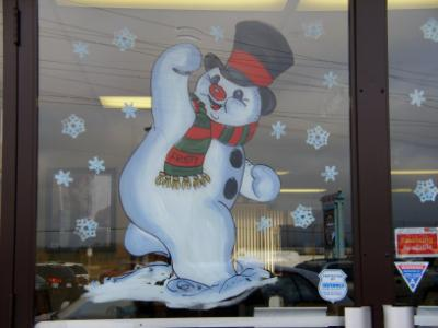 Frosty waving to come on in