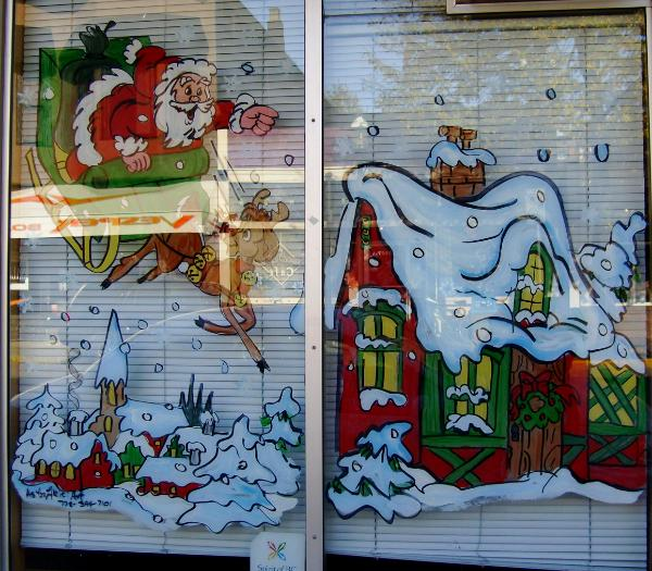 Santa sleigh & house