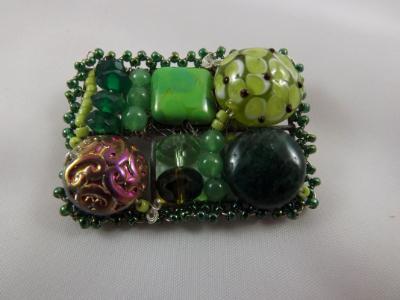 Green Mosaic Brooch