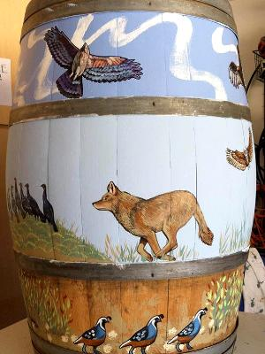 Art & Wine Festival Barrel Side 3