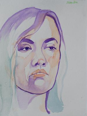 Natalia Watercolor Head 2