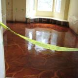 Kitchen, stained concrete floor, high gloss epoxy