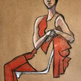 Rachael, Mod Red, Seated